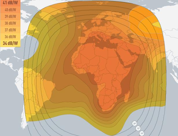 Coverage maps Eutelsat 10A - 10 0 East, Coverage Maps