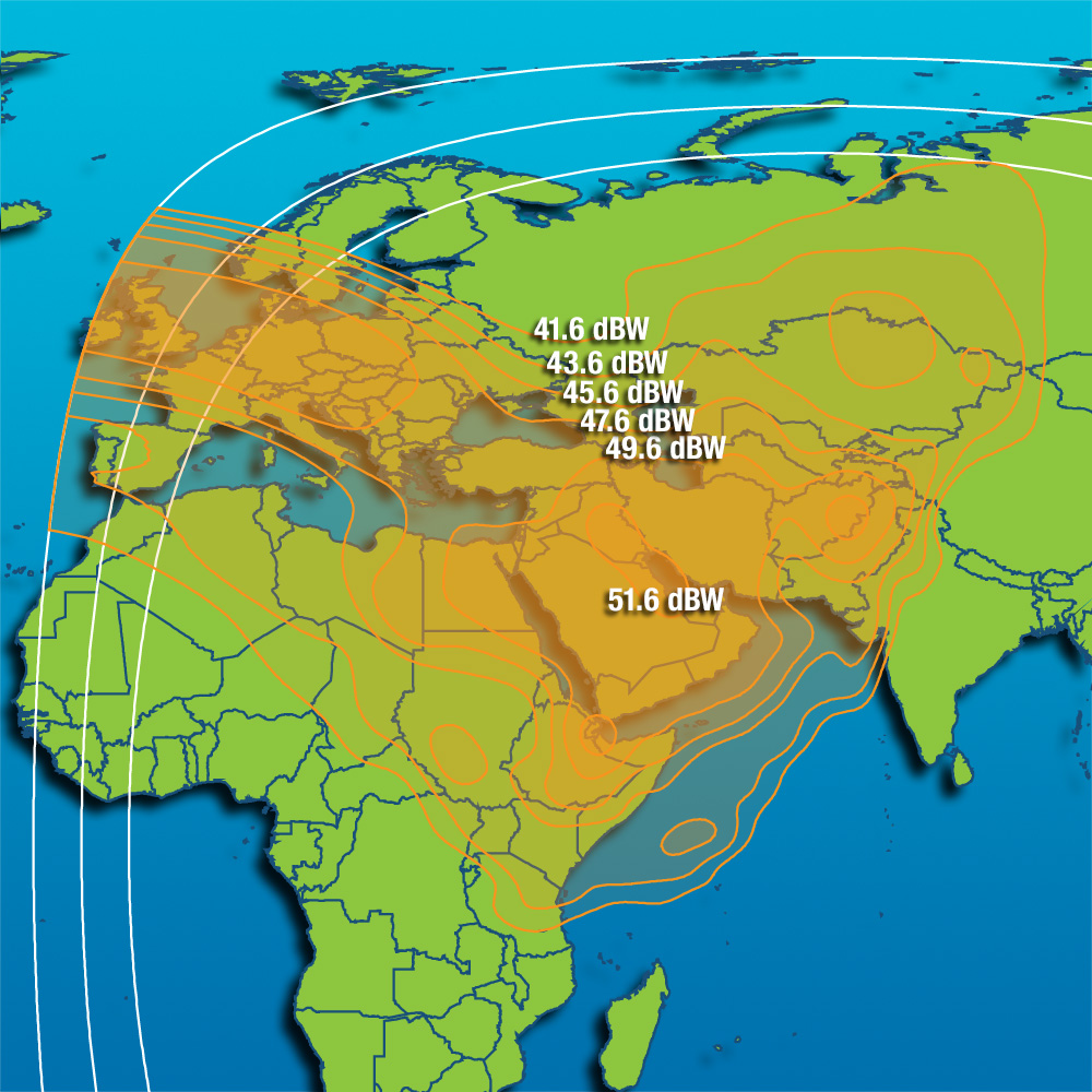 Coverage maps Satellite Intelsat 17 - 66 0 East, Coverage