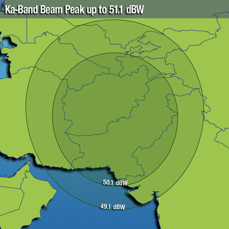 Coverage maps Intelsat 20 (IS-20) - 68 5 East, Coverage Maps