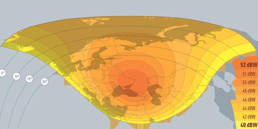 Coverage maps Satellite Eutelsat 36B/36C (AMU1) - 36 0 East